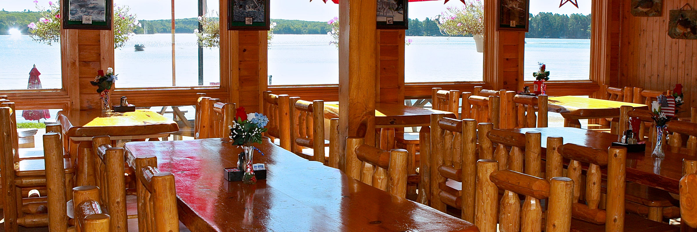 Chief lake lodge restaurant view